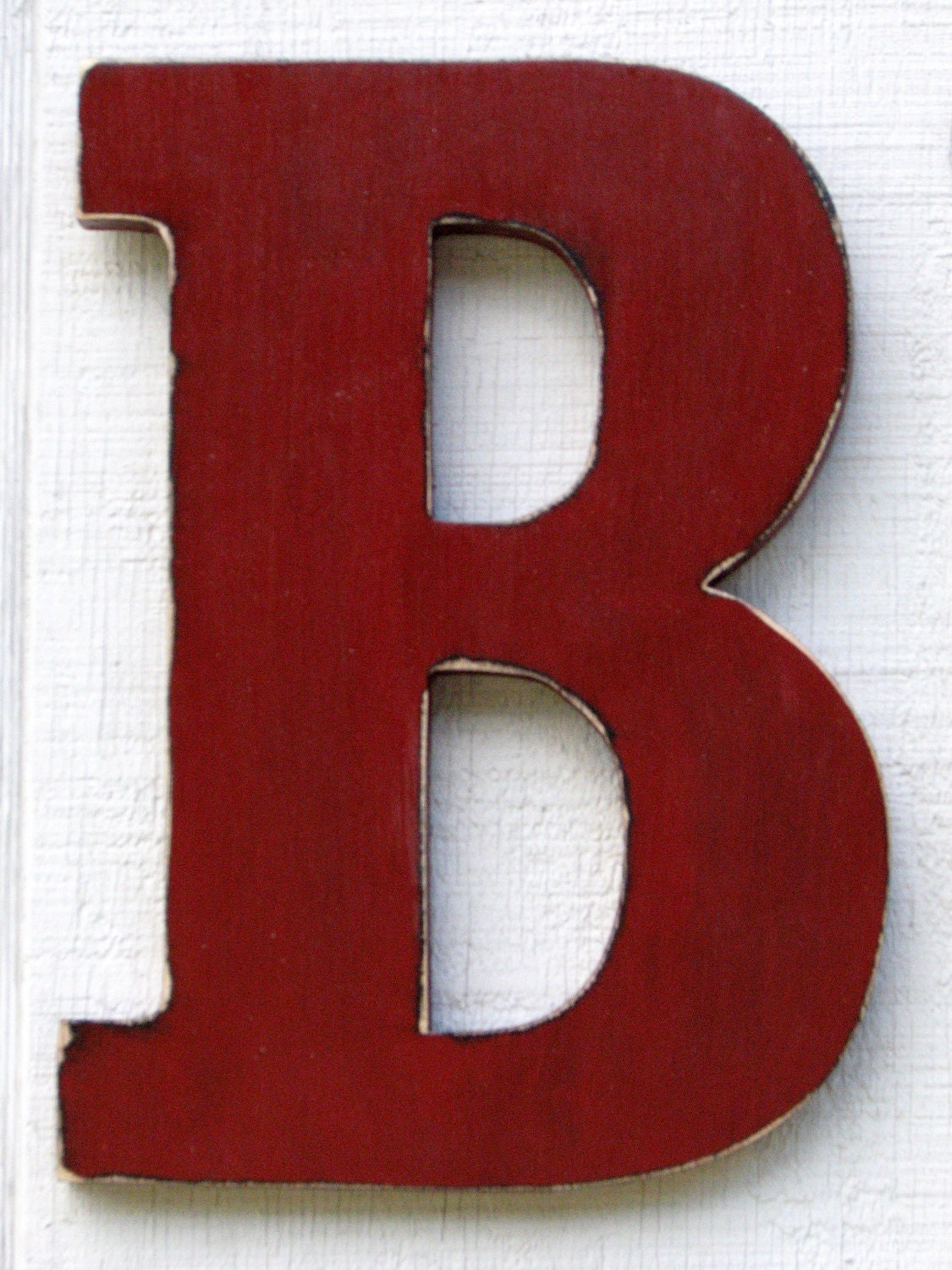 Kids room large wooden letter b 12 inch tall by for Big wooden letter b