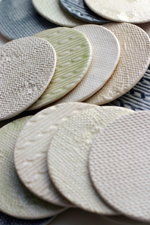 Porcelain Knitware Coasters
