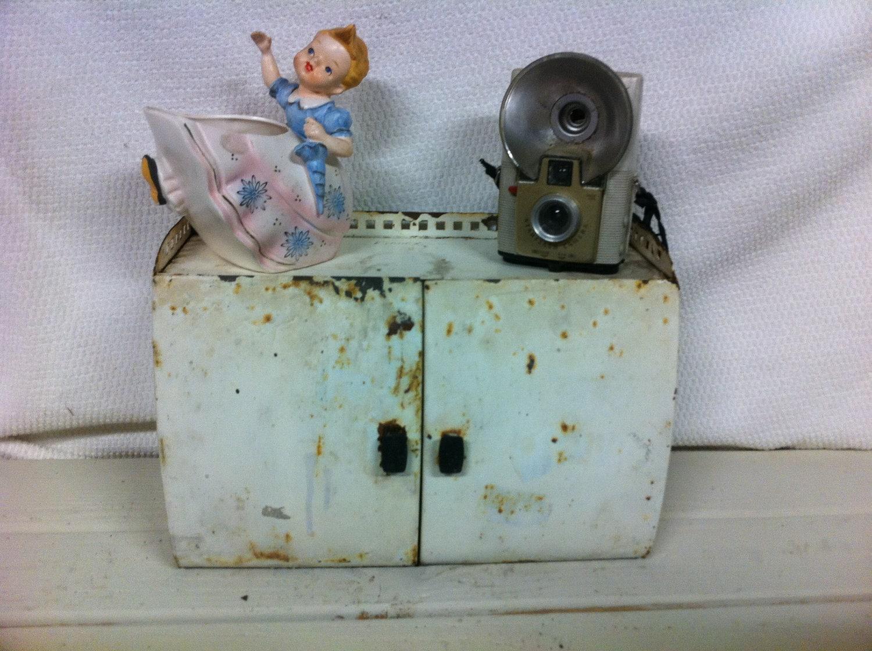 Vintage Metal Doctors Medicine Cabinet