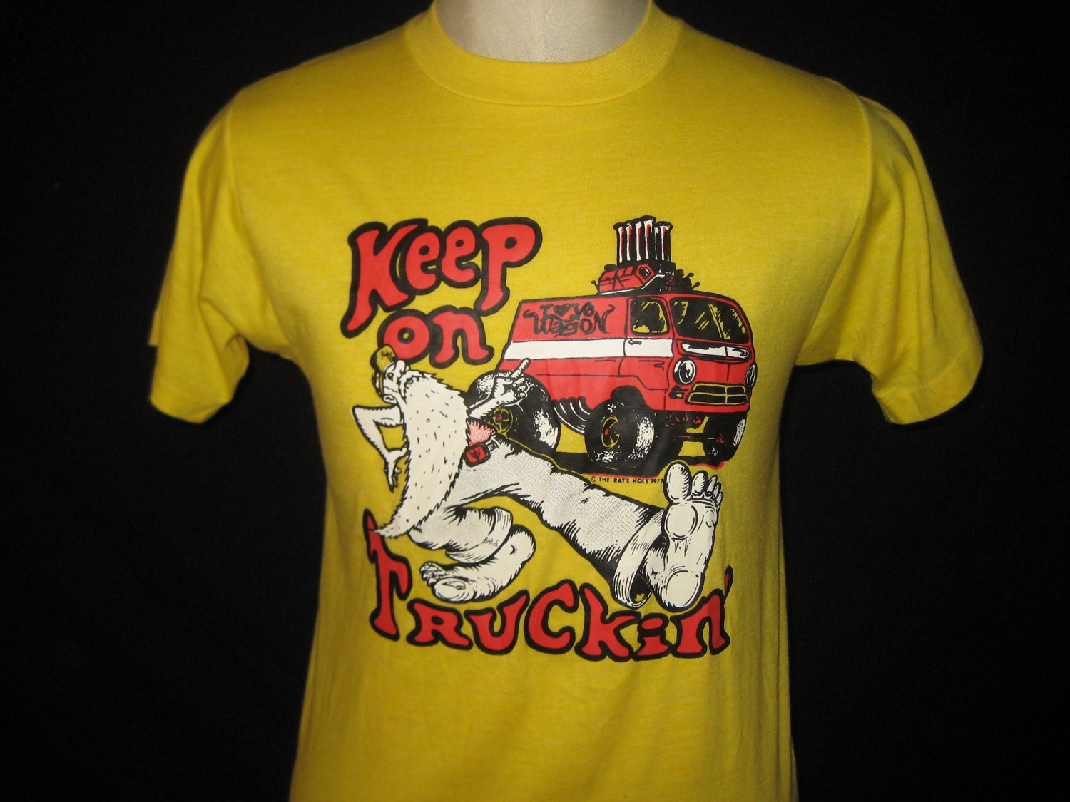 Vintage 70 39 s t shirt keep on truckin 39 iron on by for Best no iron shirts