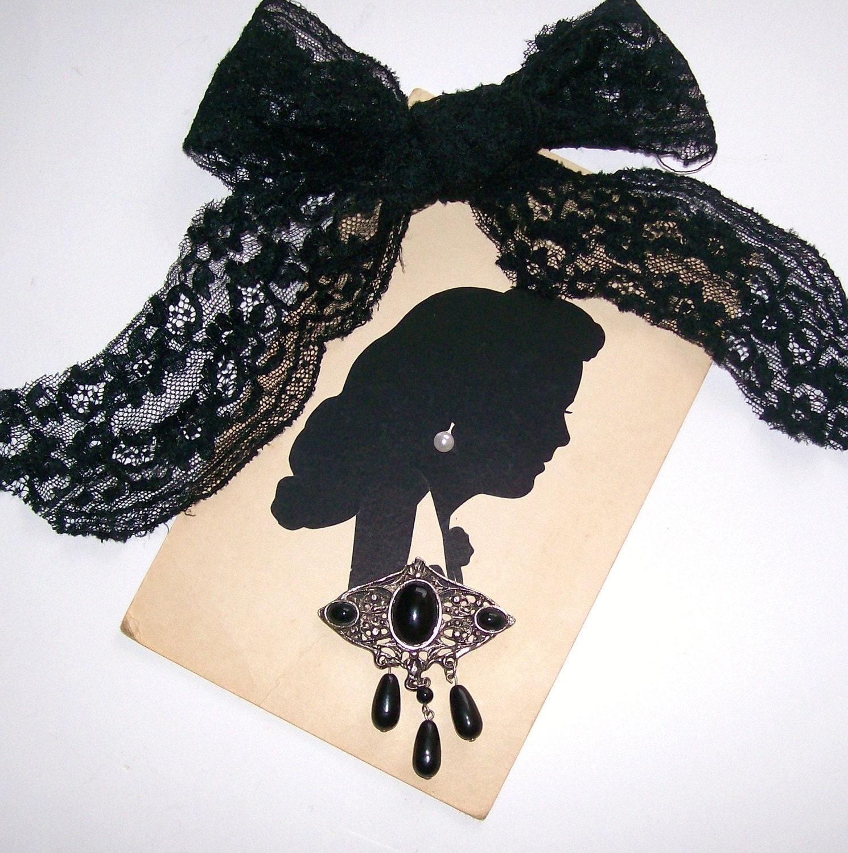 Victorian  Shabby Chic Silohuette Portrait