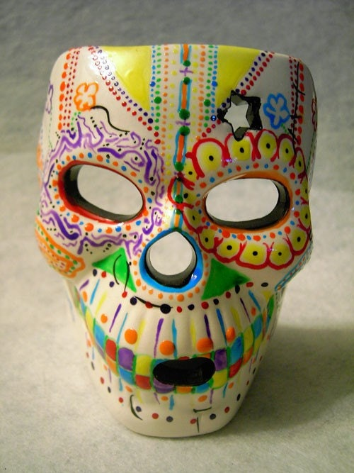 Day of the Dead Sugar Skull candle holder by ...