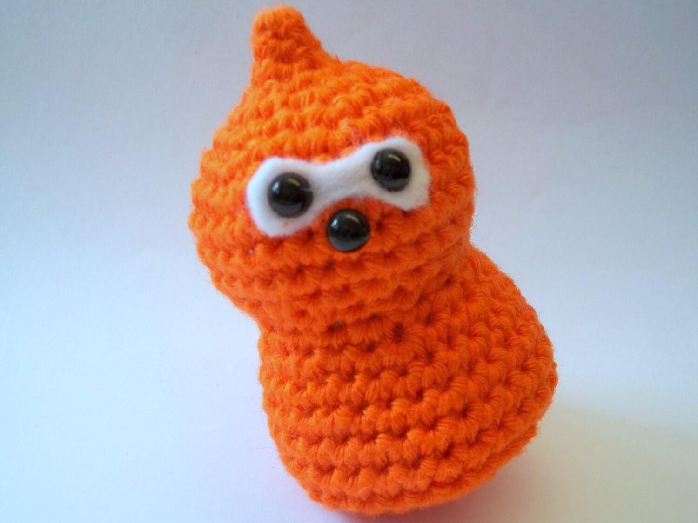 Peelable Orange Amigurumi : Items similar to Cute Amigurumi: Zingy EDF Orange Flame on ...