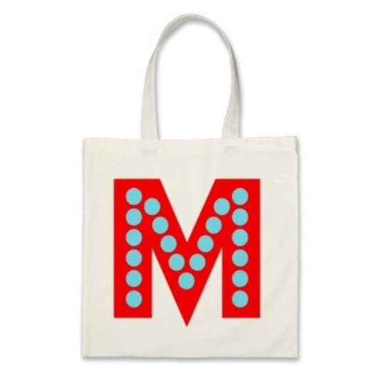 Kid Personalized Monogram Tote Bag or Party Favor in Red and Blue - baggedandloaded
