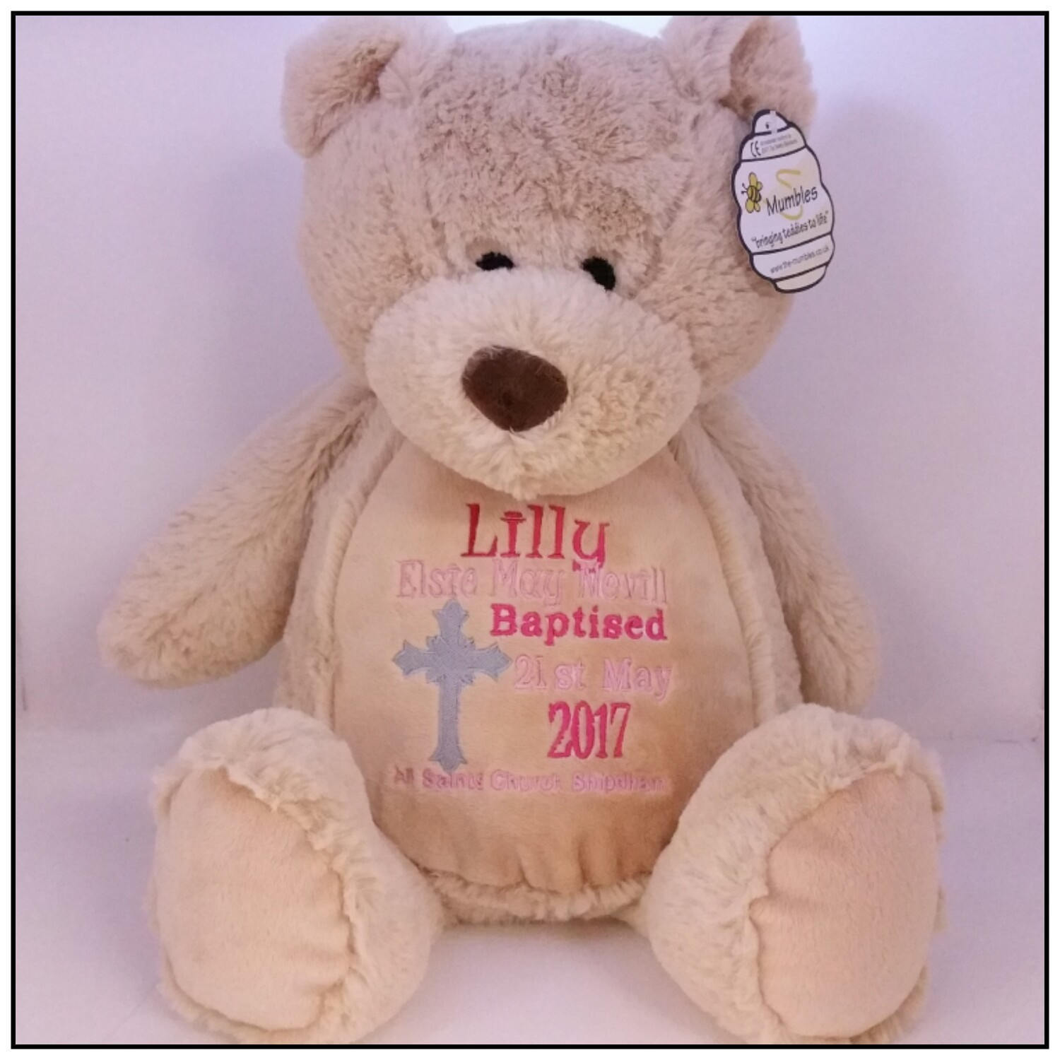 Personalised Teddy Bear Embroidered Bears  Personalised Baby Gift Christening Birthday Gift Birth Announcement Embroidered  Teddy