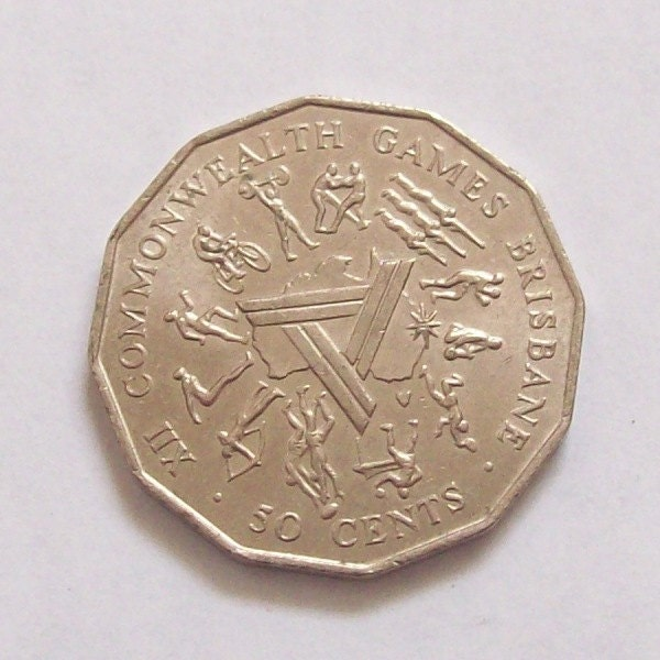Fifty Cents 1982 XII Commonwealth Games, Coin from ...