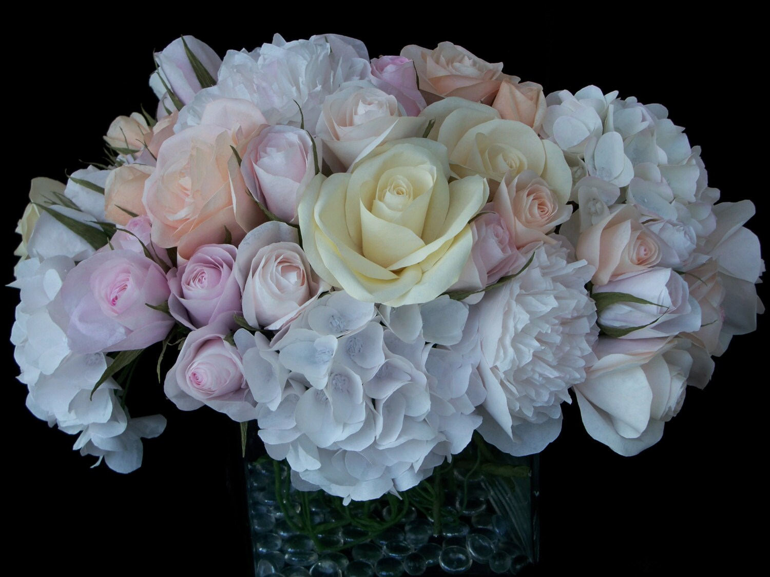 Paper flower bouquet wedding anniversary by royascreations