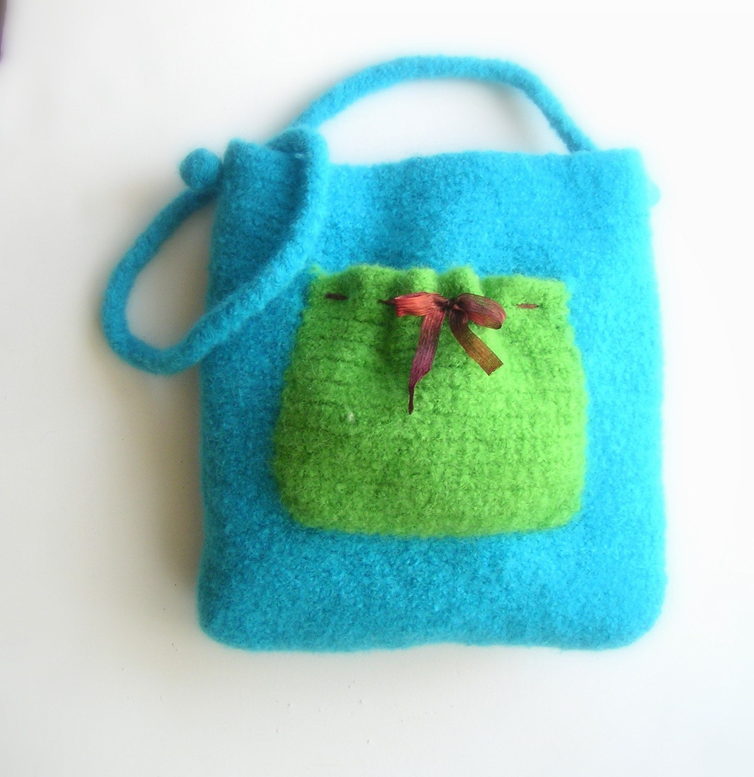 Easy Felted Crochet Bag Pattern : Crochet Felted Pattern pdf Pretty Pocket by ...