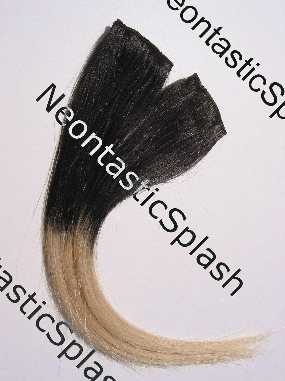 """Violet Soft Black Hair Color 12"""" 1b off black 613 blonde"""