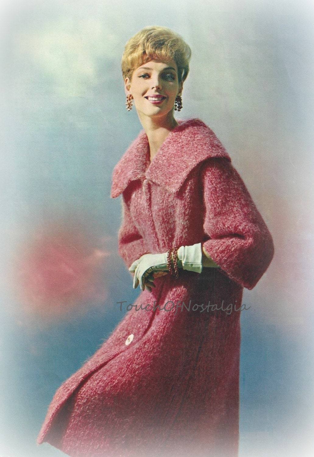 LONG DRESS COAT Knitting Pattern Vintage by touchofnostalgia7