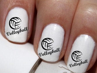 Volleyball nail decals joy studio design gallery best for 143dressup games decoration