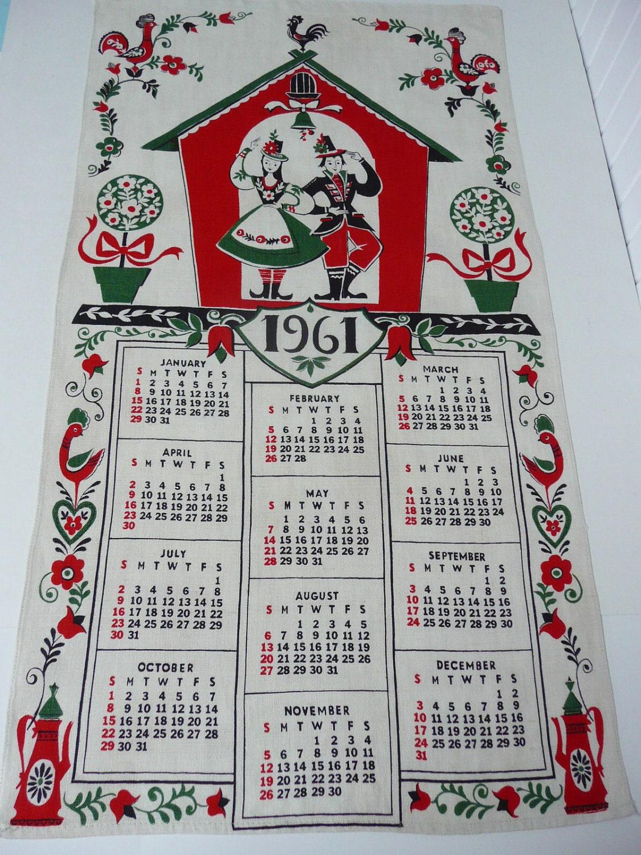 Календарь апреля 1961