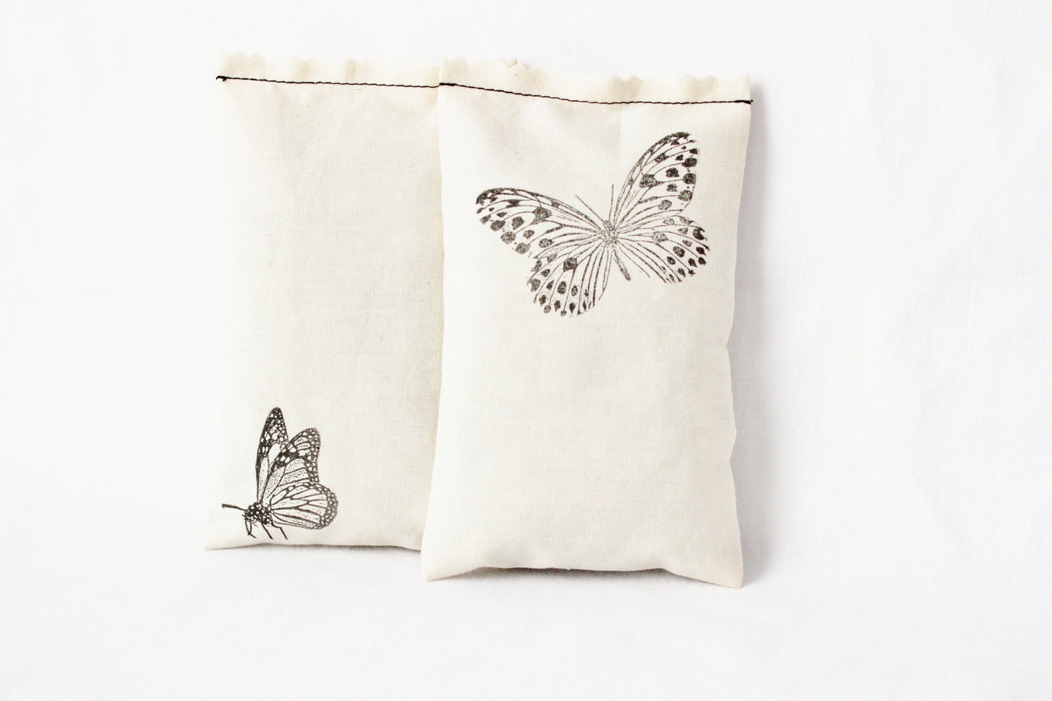 Butterfly Sachets, Cream, Jasmine Lavender Rose, Eco, Set of 2