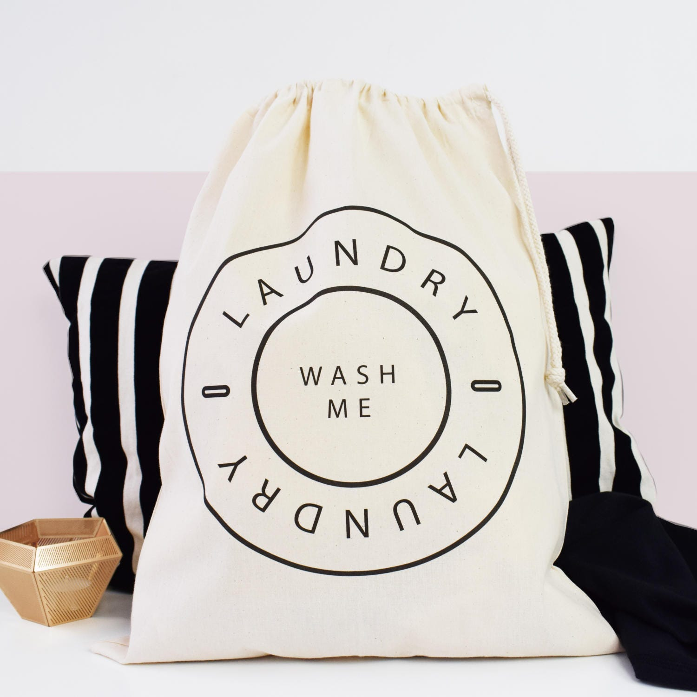 Home And Travel Laundry Bag Wash Me Laundry Bag Drawcord Cotton Bag Kids Room Storage Bag 100 Cotton