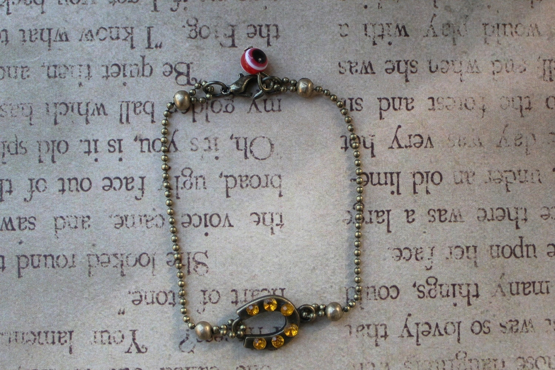 Horseshoe charm, horse shoe charm, Good fortune charm bracelet, Charm bracelet
