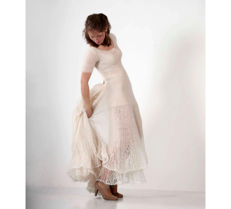 Valentines Daysecond Time Wedding Dress White By Missprettyknitty