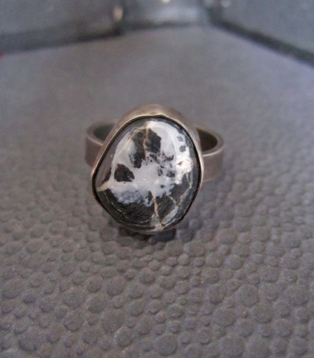 turquoise sterling silver ring white buffalo by