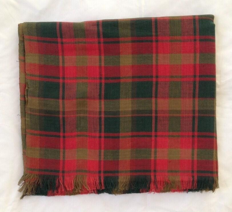 Maple leaf tartan scarf  maple leaf tartan wrap  maple leaf tartan shawl  in 100 cotton