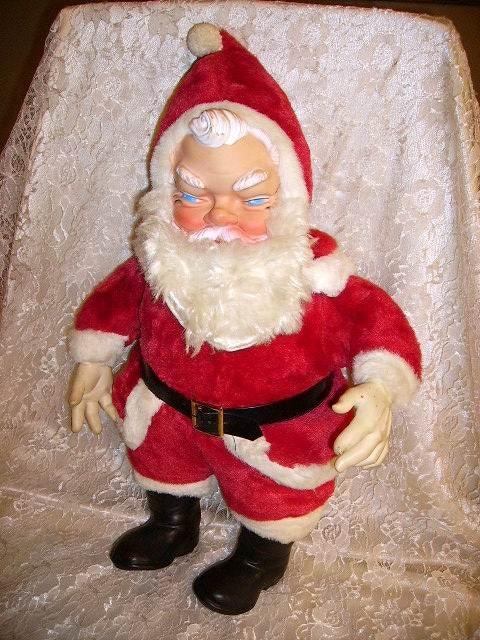 Vintage 1950's Large Stuffed Santa Claus. by BellaShaeCottage