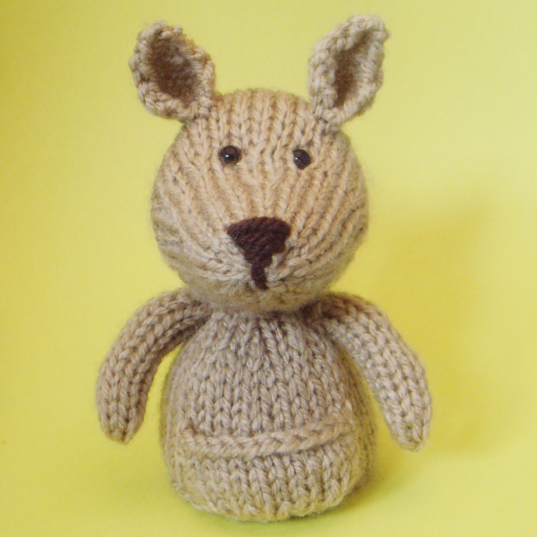 Knitting Patterns For Toys On Etsy : Kangaroo Toy Knitting Pattern PDF by Jellybum on Etsy