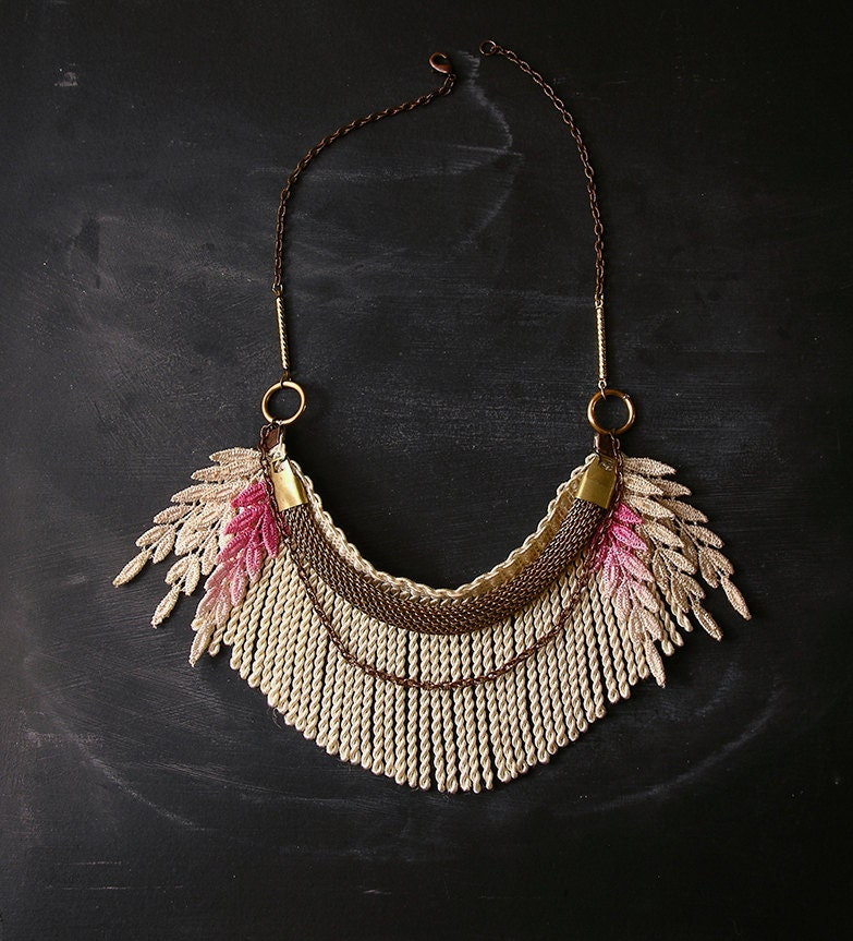 ombre fringe necklace - the no. 021- lace necklace- spring 2013 - weareVANDAL