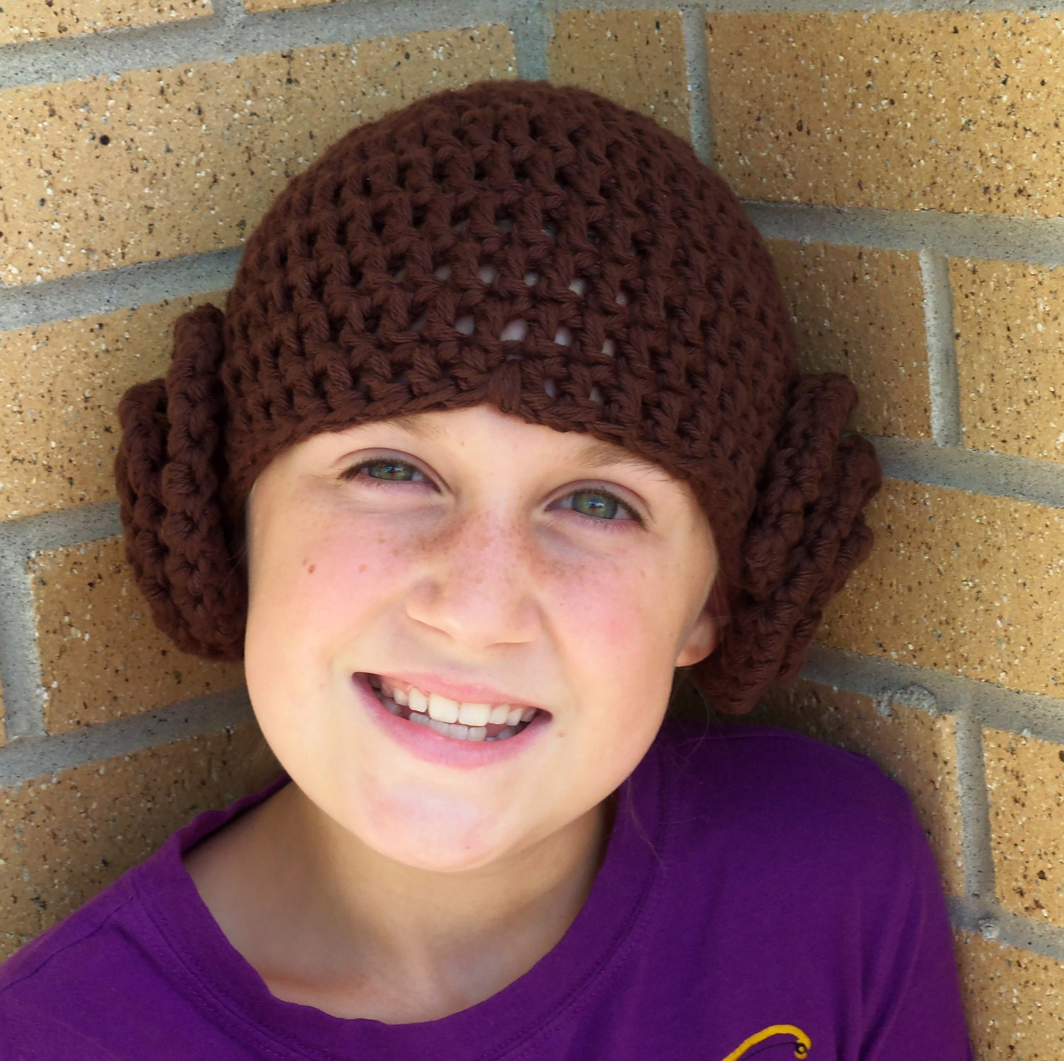 Items similar to Crochet Princess Leia Hat in Soft 100% ...