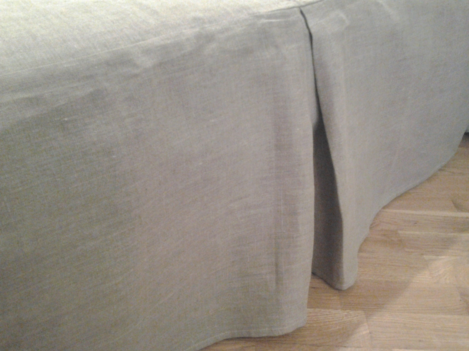 Grey Linen King Bed Skirt : Linen bed skirt grey gray king eco by crystalnatalina on etsy