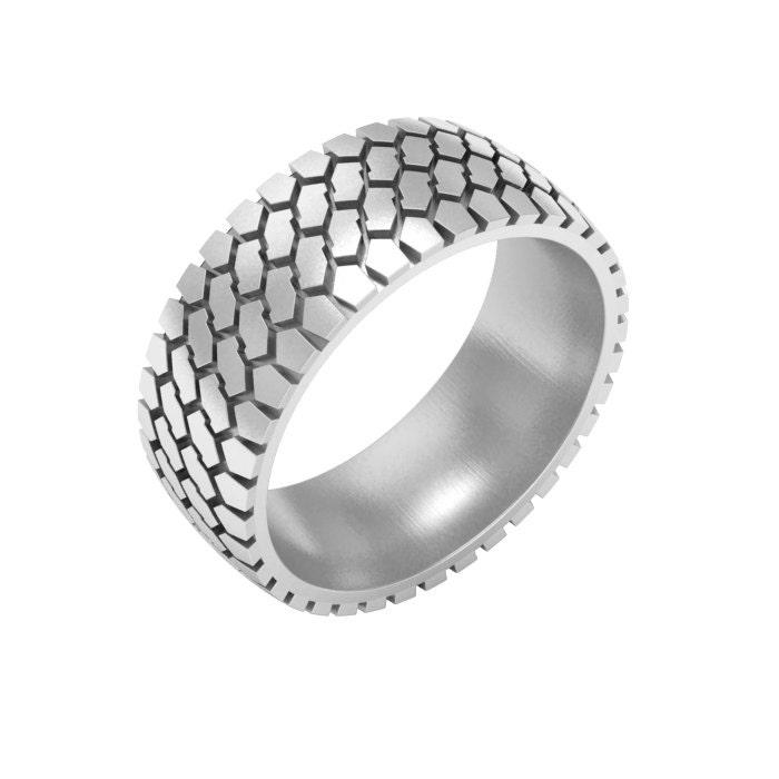 Mud Tire Wedding Ring