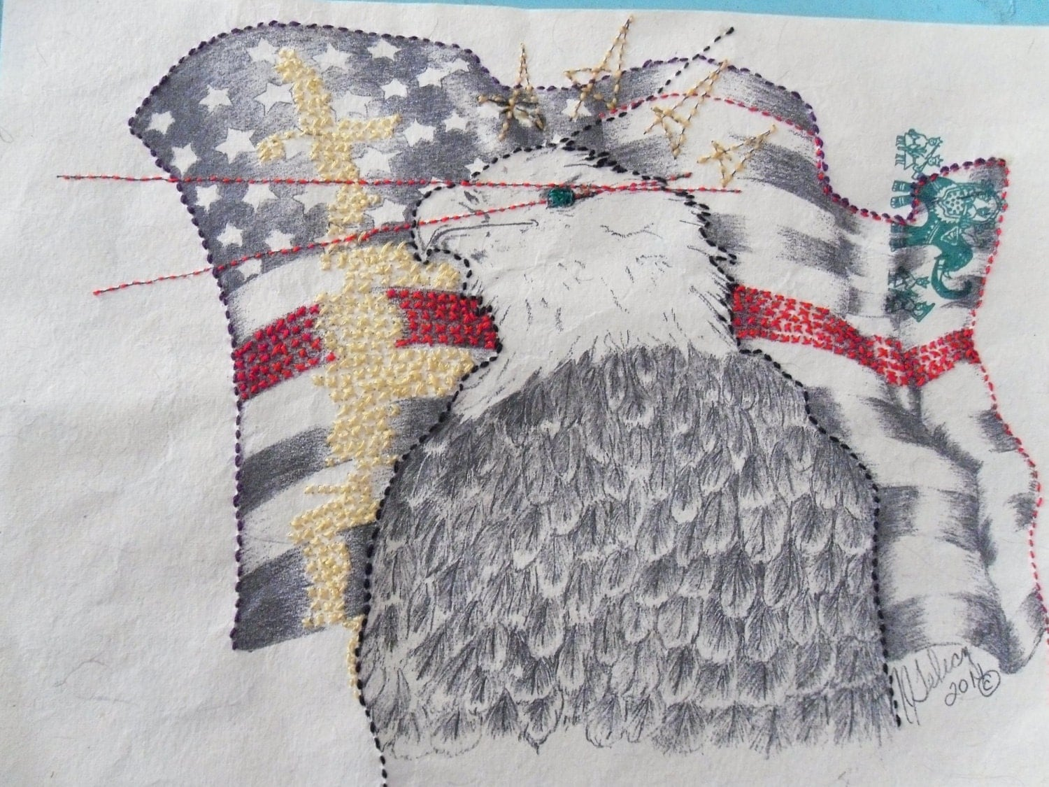 Eagle & Flag print 'Uhmerica'