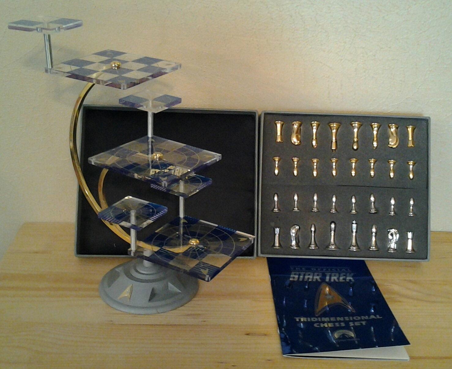 Star trek tri dimensional chess set by the franklin by bobingalong - Tri dimensional chess ...
