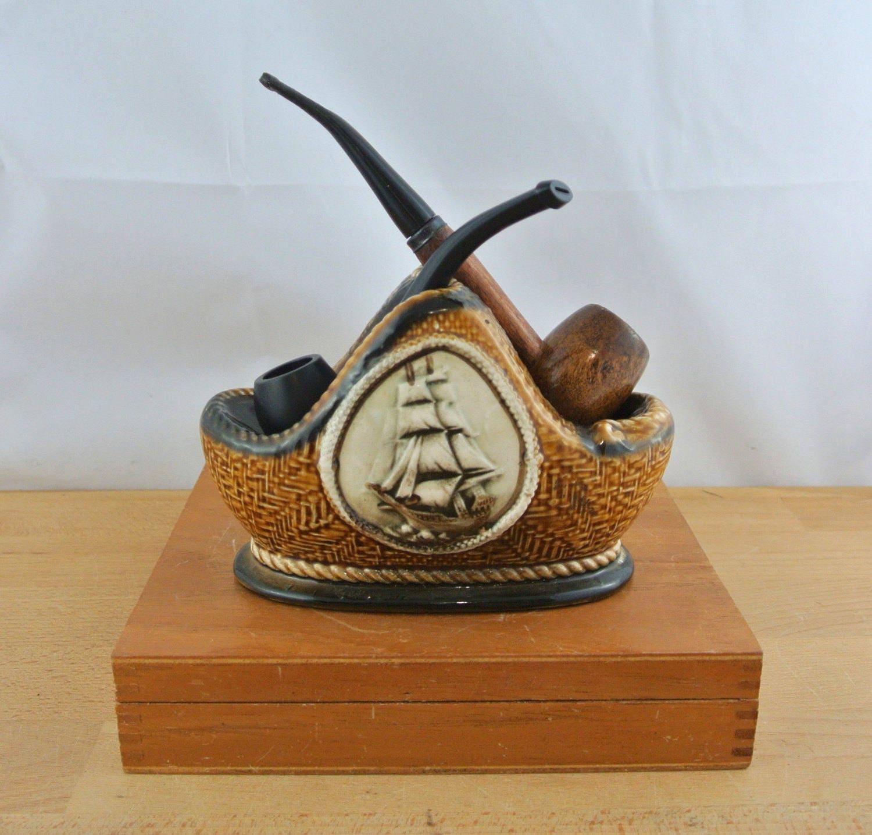 Vintage Ceramic  Pipe Holder Vintage Pipe Rack Pipe