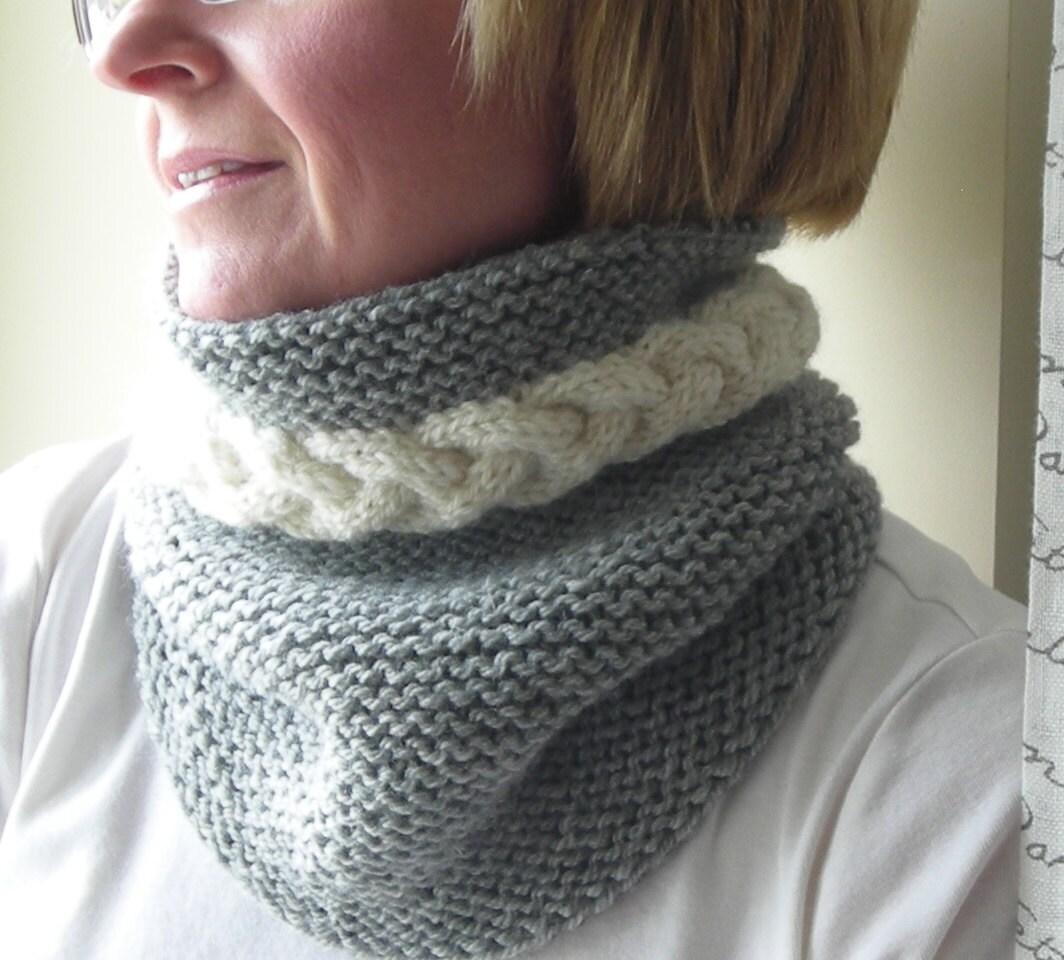 Mens Cowl Knitting Pattern : Knitting Pattern PDF cowl neckwarmer men by lavenderhillknits