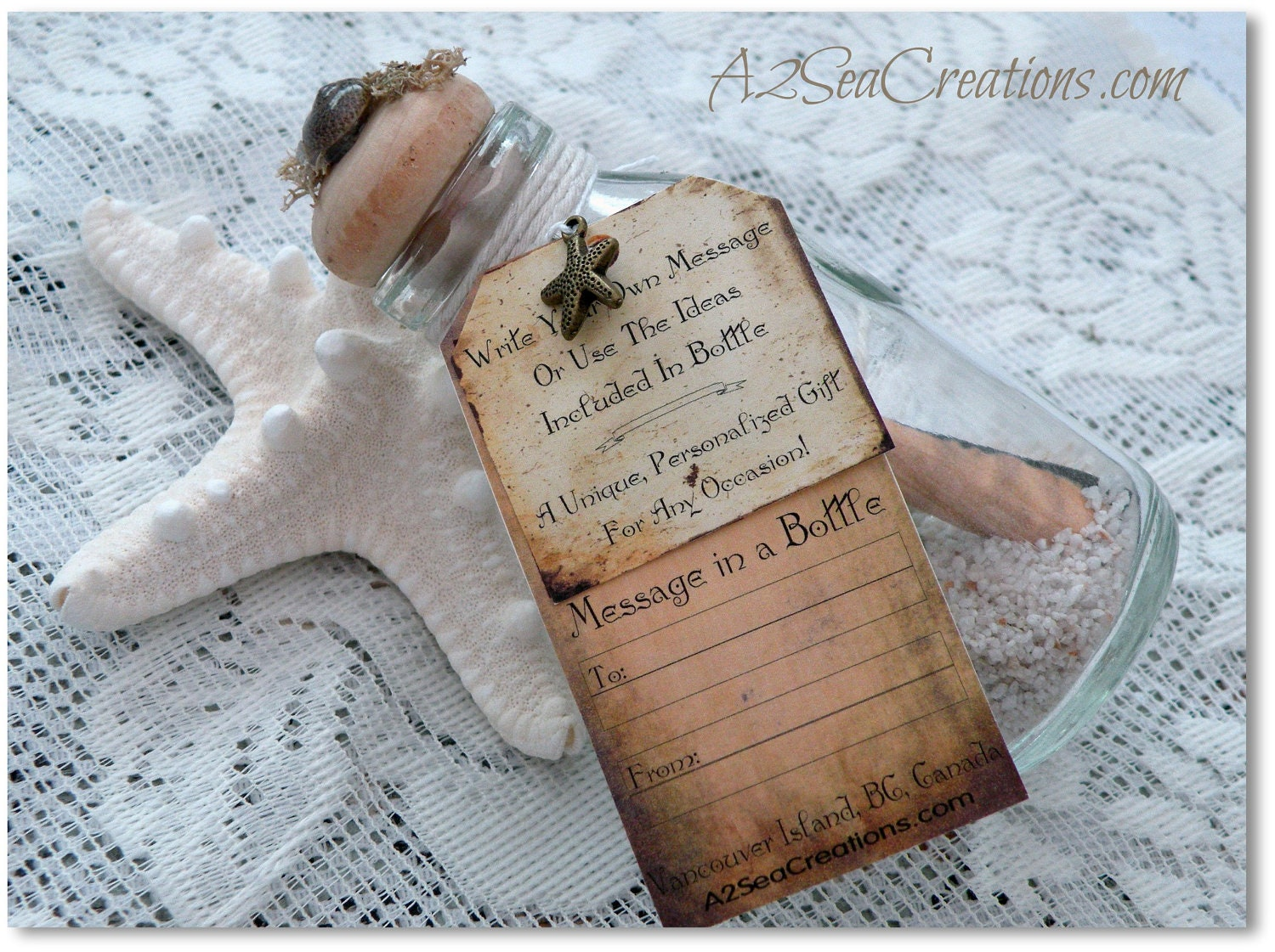 Message In A Bottle Personal Beach Wedding By A2SeaCreations