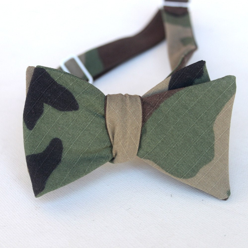 camouflage bow tie by xoelle on etsy