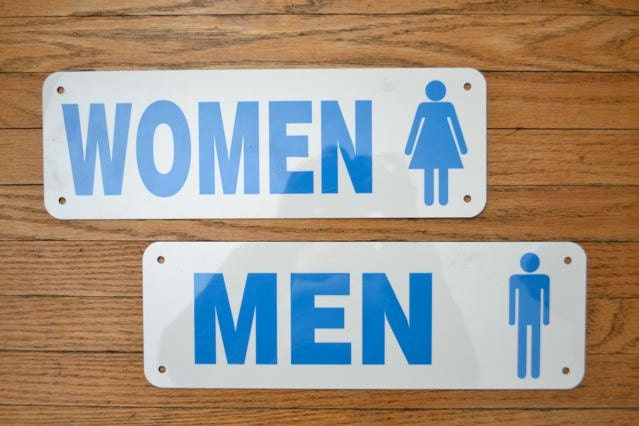 Vintage Bathroom Sign Metal Advertising Signs Men By