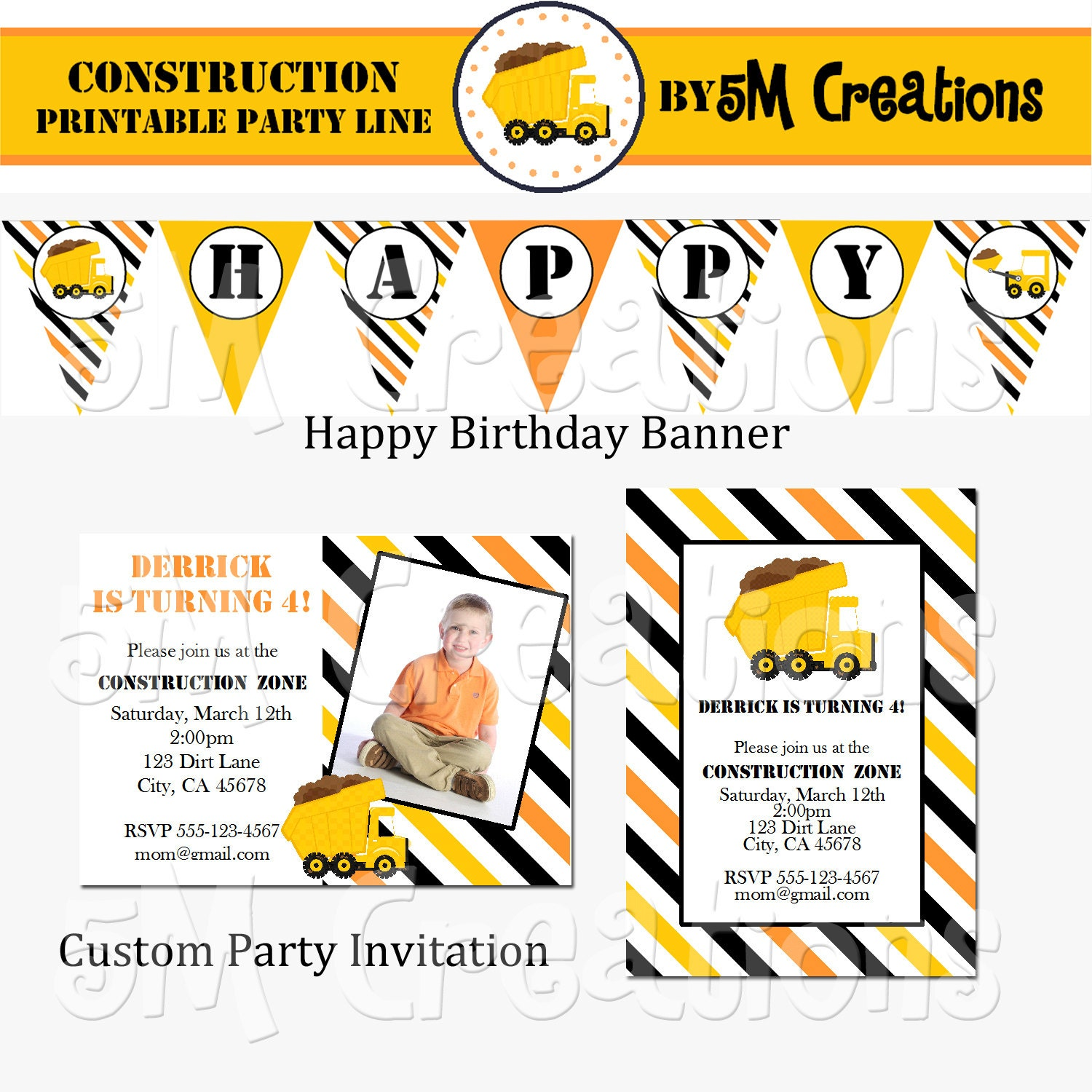 Construction Party Package Construction Birthday By
