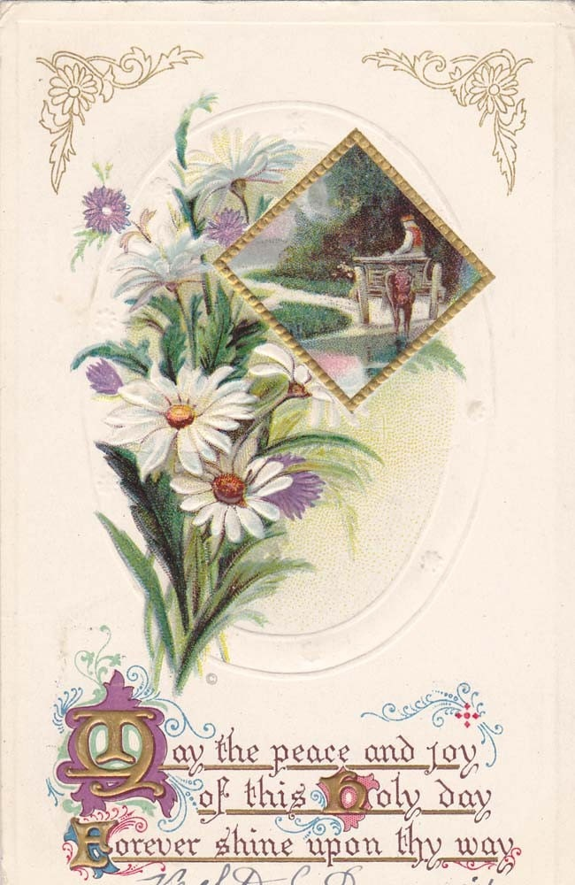Vintage Easter Post Card Early 1900s epc431