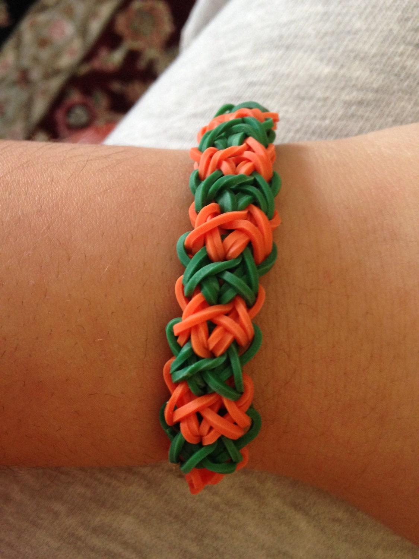 items similar to double x rainbow loom bracelet on etsy