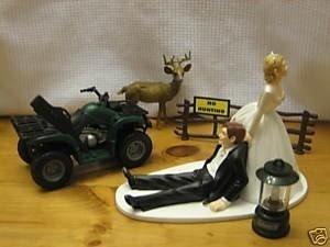 Deer Hunting Hunter Groom Wedding Cake Topper Atv By
