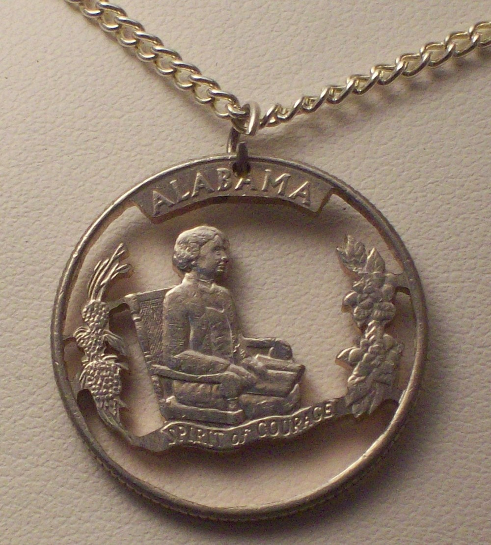 how to make cut coin jewelry