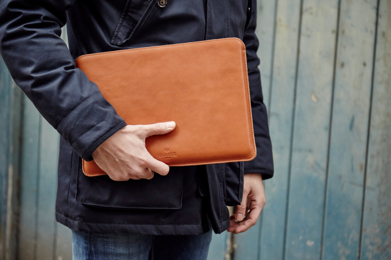MacBook Air 13 Leather Sleeve Case and Wool Felt Laptop Cover Handmade