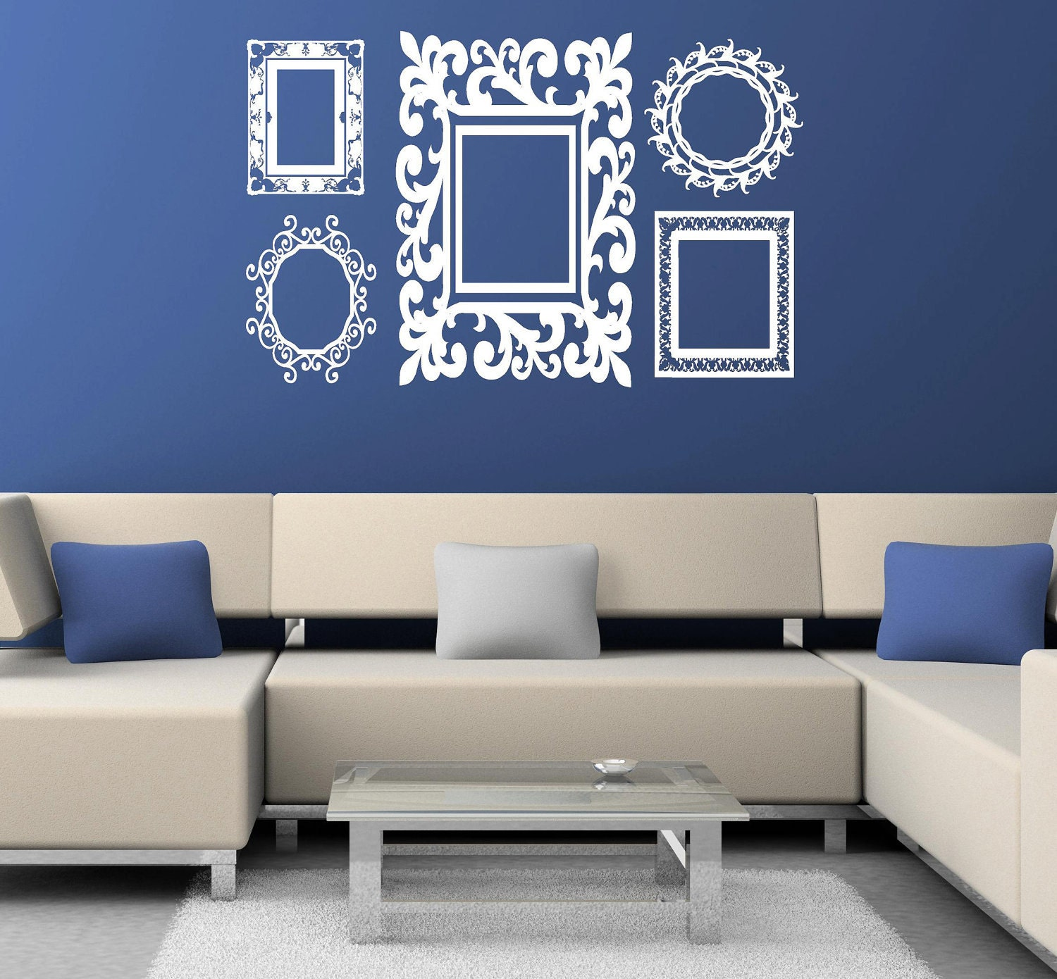 Items similar to Baroque Frames decals Vinyl Lettering