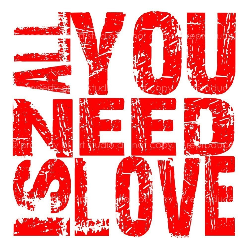 all you need is love   red and