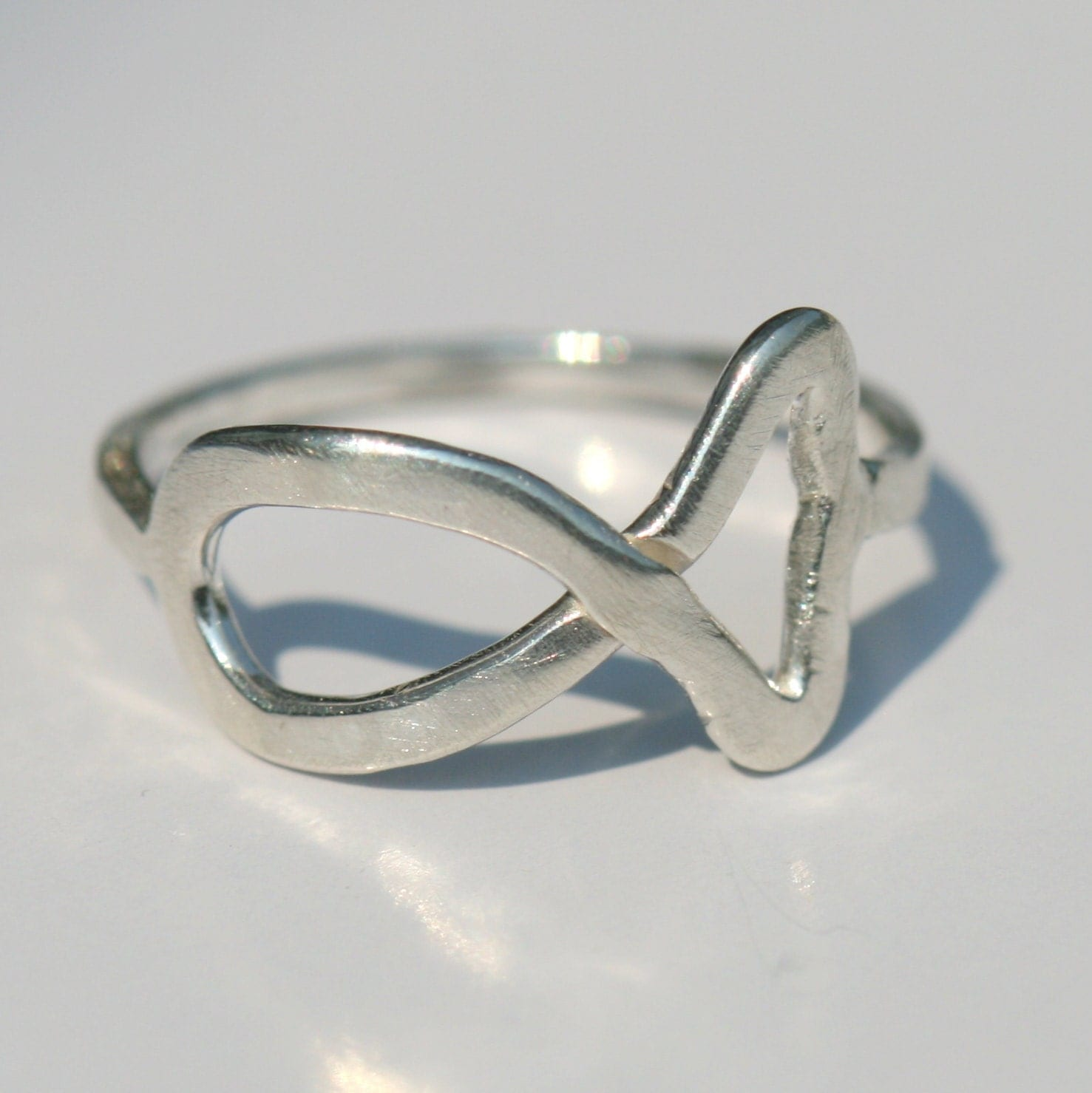 small jesus fish ring ring silver by maggiemcmanedesigns