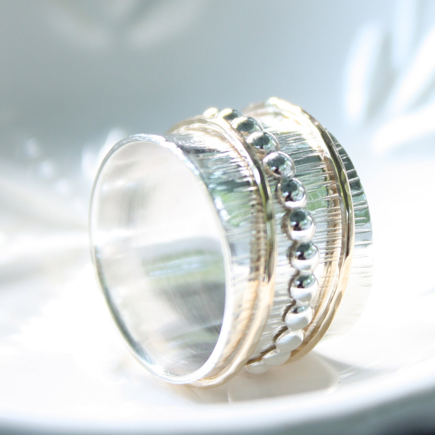 sterling silver spinner ring reserved listing by