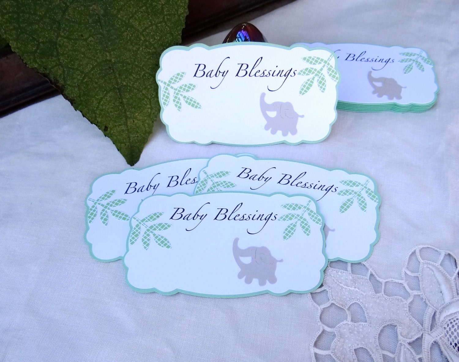 20 baby blessing cards baby shower favors baby advice cards baby