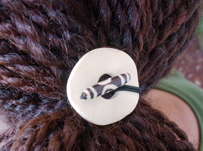 Batik Hair Tie Dreadlock Sisterlock Natural by BeyondJewellery