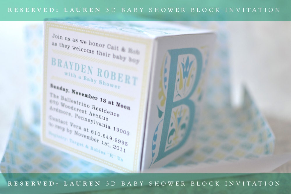 Pop up baby shower invitations