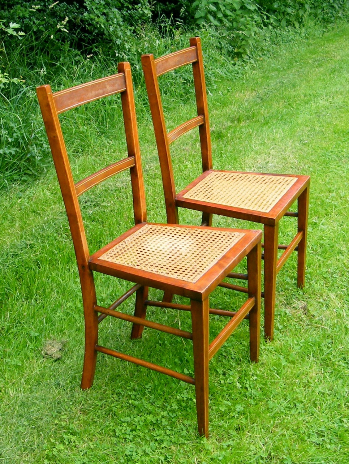 2 Small Vintage Chairs 2 Old Chairs Antique kitchen Chairs Little Bedroom Chairs