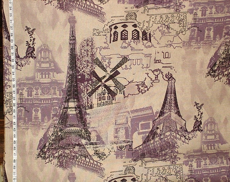 paris fabric eiffel tower french france by brickhousefabrics. Black Bedroom Furniture Sets. Home Design Ideas